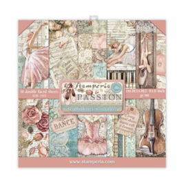 Stamperia Passion 8x8 Inch Paper Pack