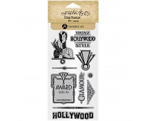 Graphic 45 Vintage Hollywood Cling Stamp 3