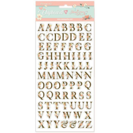 Stamperia Love Story Alphabet Chipboard
