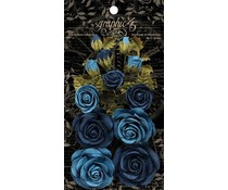 Graphic 45 Rose Bouquet Collection Bon Voyage & French Blue