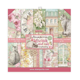 Stamperia Orchids and Cats 8x8 Inch Paper Pack