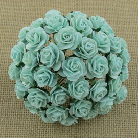 Pastel Green Open Roses - 10 mm