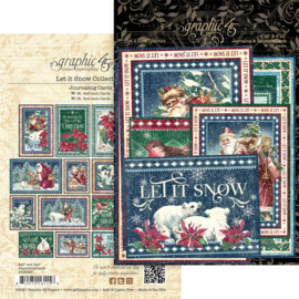 Pre-order Graphic 45 Let it Snow Journaling Cards