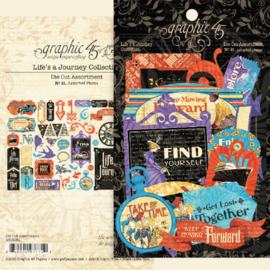 Graphic 45 Life's a Journey Die-cut Assortment