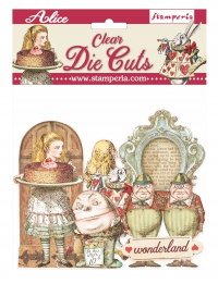 Stamperia Alice Through the Looking Glass Clear Die Cuts