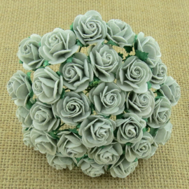 Silver Grey Open Roses - 10 mm