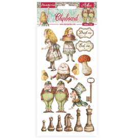 Stamperia Alice Through the Looking Glass Chipboard