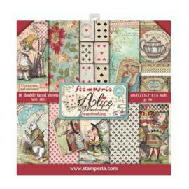Stamperia Alice in Wonderland 6x6 Inch Paper Pack