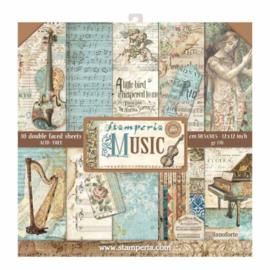 Stamperia Music 12x12 Inch Paper Pack