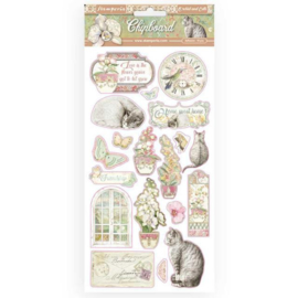 Stamperia Orchids and Cats Chipboard