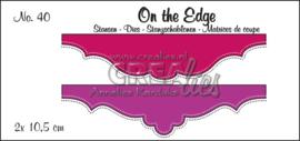 Crealies On the Edge Stansen No. 40