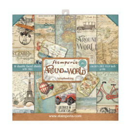Stamperia Around the World 8x8 Inch Paper Pack