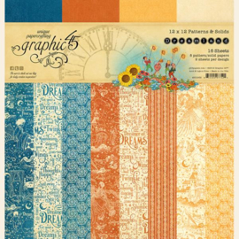Graphic 45 Dreamland 12x12 Paper Pad  Patterns & Sollids