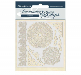 Stamperia Decorative Chips 14x14 cm - Passion Laces and Corners