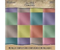 Tim Holtz Idea-ology Kraft Stock 8x8 Inch Metallic