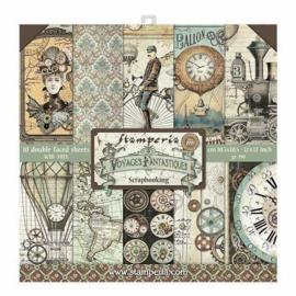 Stamperia Voyages Fantastiques 12x12 Inch Paper Pack