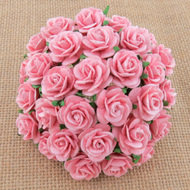 Baby Pink Open Roses - 10 mm