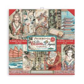 Stamperia Sir Vagabond in Japan 12x12 Inch Paper Pack