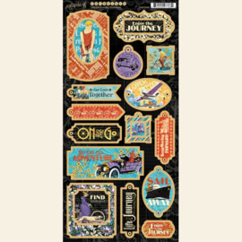 Graphic 45 Life's a Journey Chipboard
