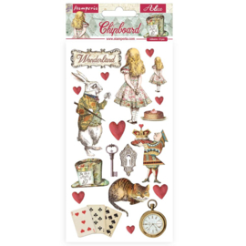 Stamperia Alice in Wonderland Chipboard