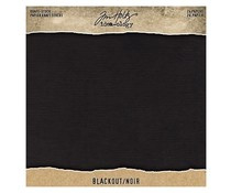 Tim Holtz Idea-ology Kraft Stock 8x8 Inch Blackout