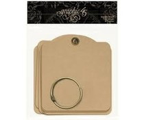 Graphic 45 Square Tags Kraft