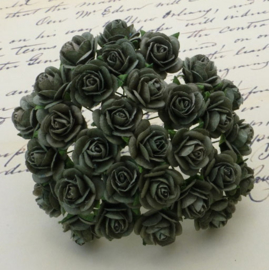 Olive Green Open Roses - 10 mm