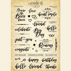 Graphic 45 Sentiment Clear Stamps
