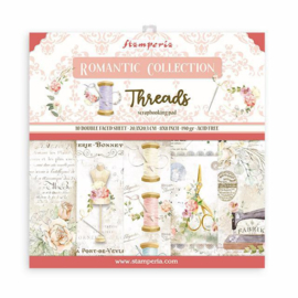 Stamperia Romantic Threads 8x8 Inch Paper Pack