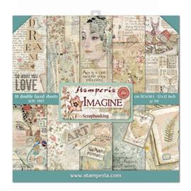 Stamperia Imagine 12x12 Inch Paper Pack