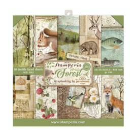 Stamperia Forest 8x8 Inch Paper Pack