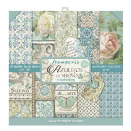 Stamperia Azulejos 12x12 Inch Paper Pack