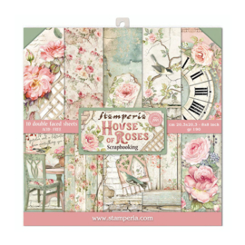 Stamperia House of Roses 8x8 Inch Paper Pack