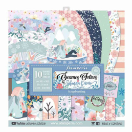 Stamperia Seamos Felices 12x12 Inch Paper Pack