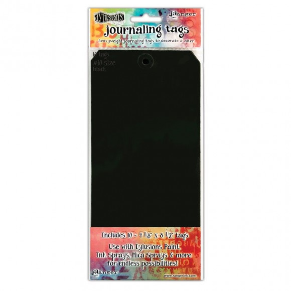 "Dylusions Black Tags 4,125""x8,5"""