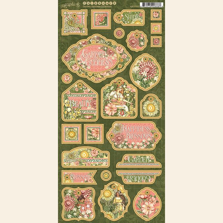 Graphic 45 Garden Goddess Chipboard