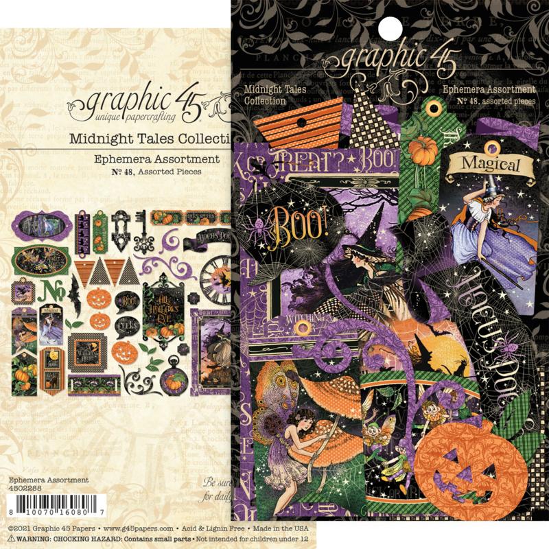 Pre-order Graphic 45 Midnight Tales Ephemera Assortment