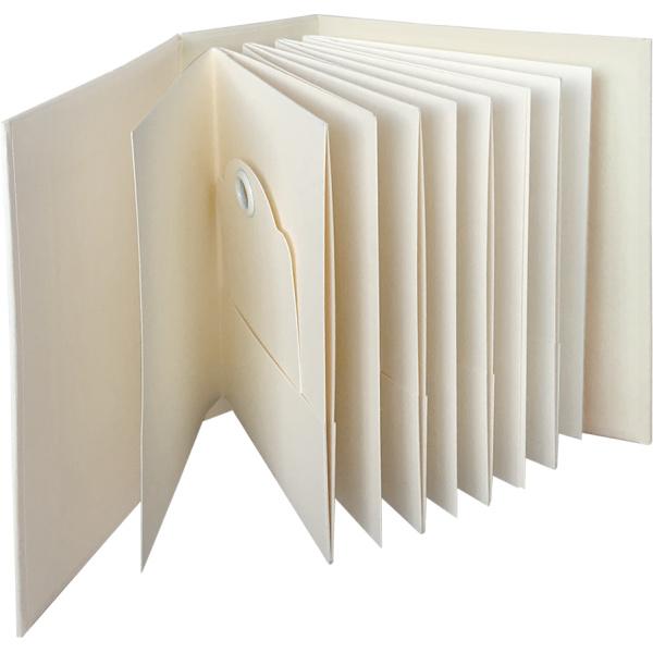Graphic 45 ATC Rectangle Pocket & Tags Album Ivory