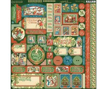Graphic 45 Christmas Magic Stickers