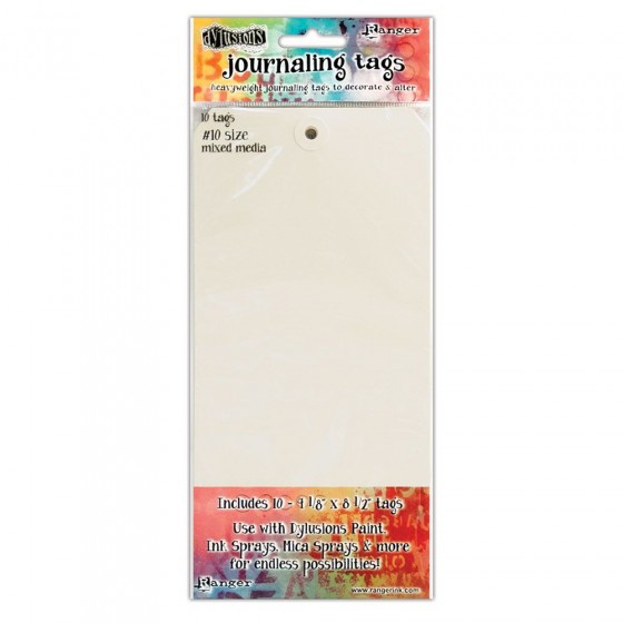 "Dylusions Mixed Media Tags 4,125""x8,5"""