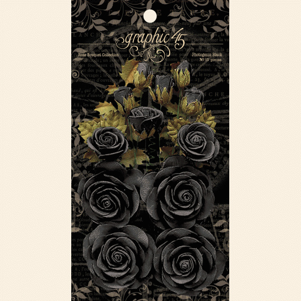 Graphic 45 Rose Bouquet Collection Photogenic Black