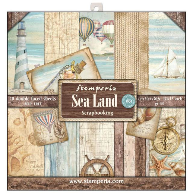 Stamperia Sea Land 12x12 Inch Paper Pack