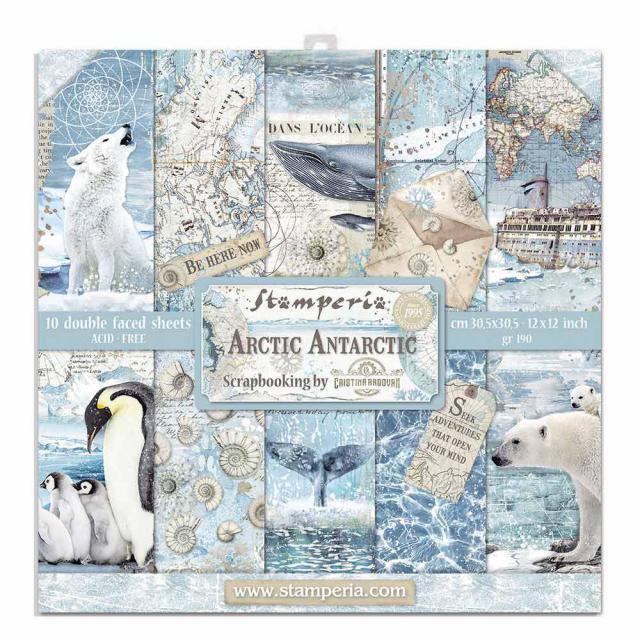 Stamperia Arctic Antarctic 12x12 Inch Paper Pack