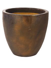 Keramiek plantenbak  'Verla' goudkleurig Ø72 x H67 cm