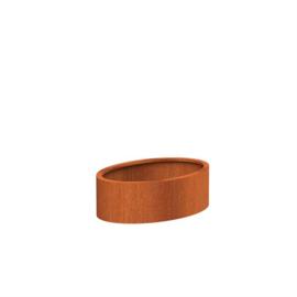 plantenbak cortenstaal 'Oval' 120x80x40 cm