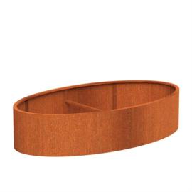 plantenbak cortenstaal 'Oval' 280x160x60 cm