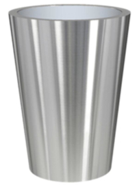 RVS plantenbak, conische vorm 'Panache Plus' op ring Ø70 x H95cm