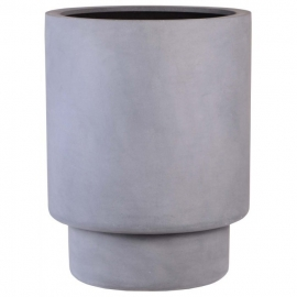 Ronde plantenbak 'Missouri'  Ø50 x H65 cm. Kleur: Grey