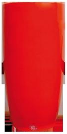Ronde plantenbak XXXL. Afmeting: H200 cm x  Ø100 cm. Kleur: Shiny Orange