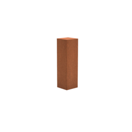 Cortenstaal sokkel, afmetingen L30 x B30 x H100 cm